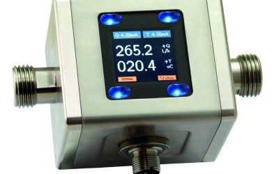 Compact magnetic inductive flowmeter